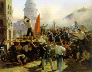 Barikád Párizsban, 1848-ban