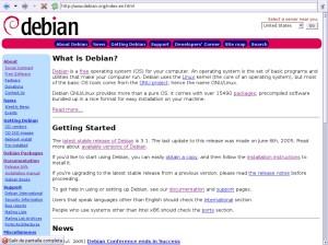debian weboldal