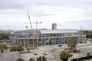 Az új stadion építése