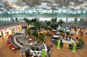 A Changi repülőtér egyik terminálja