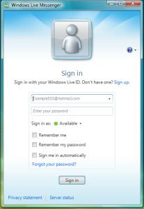 MSN bejelentkezés