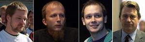 Fredrik Neij, Gottfrid Svartholm Warg, Peter Sunde és Carl Lundström