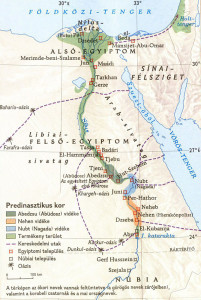predinasztikus térkép
