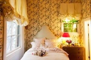 Angol vidéki stílusú hálószoba