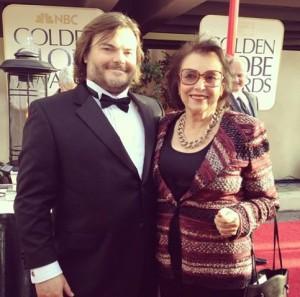 Jack Black édesanyjával a 2013-as Golden Globe díjátadón