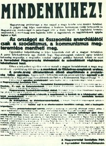 Magyar-Tanacskoztarsasag-felhivasa