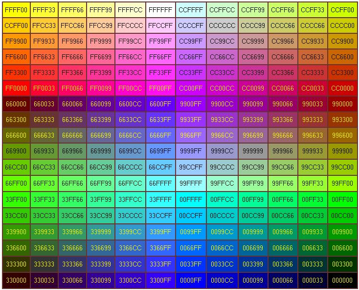 Rgb színkódok 0255