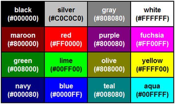 HTML-színkódok