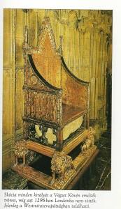Scone-i kő a koronázási székben
