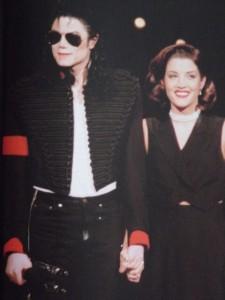 Feleségével, Lisa-Mary Presleyvel