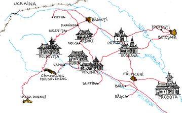 Észak-Moldávia kolostortemplomai
