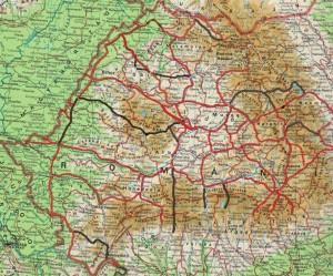 Románia térkép