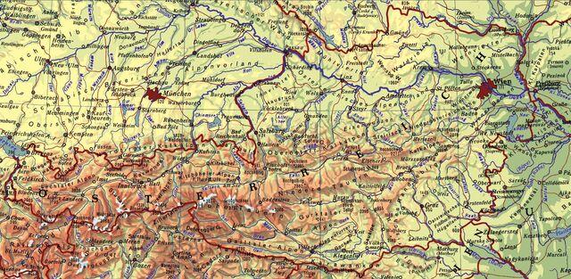 Ausztria térkép