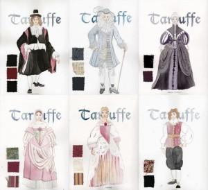 Tartuffe jelmeztervek