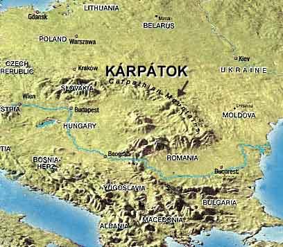 Kárpátok térkép
