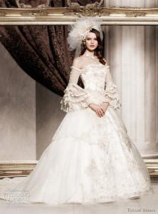 Királylányos menyasszonyi ruha